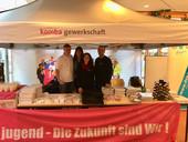 v.l.n.r. Markus Haase, Anita Herbst, Claudia Hörmann und Andreas Gehring (Foto: © komba jugend)