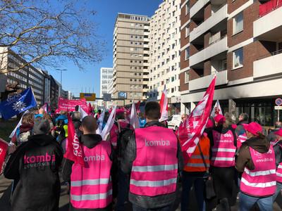 Bild vom Streik