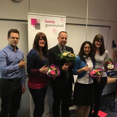 v.l.n.r. Benjamin Lange, Vera Mederer, Andreas Gehring, Claudia Hörmann und Anita Herbst (Foto: © komba jugend)